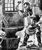 A Blacksmith's Ghost Solomon Fenner lived in the village of Laceby in Lincolnshire England in 1710.   Fenner had briefly served in King William and Queen Mary's ar