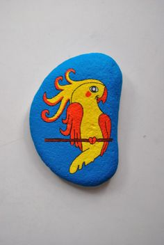 Painted Stone - Parrot