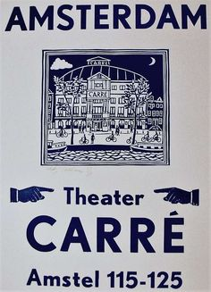 Linocut and Letterpress, Theater Carré