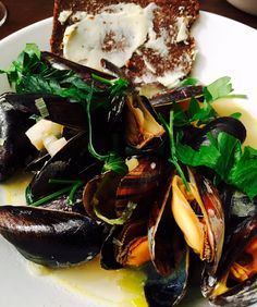 Steamed Mussels Rhenish-style: That's how my Dusseldorf husband and friends like them best!