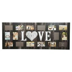 Multiple Image 16 Opening Love Collage Frame - Gallery Solutions - image 1 of 5 Family Picture Collages, Family Collage, Love Collage, Collage Picture Frames, Wall Collage, Collage Ideas, Love Frames, Frames On Wall, Wall Décor