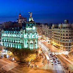 Madrid, Spain looks like a city of fast lights