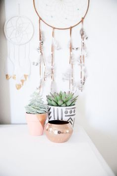 bedroom before and after, bedroom makeover, boho bedroom, bohemian bedroom, light and bright home decor, apartment decor, urban outfitters home decor, dream catchers, succulents, succulent planters