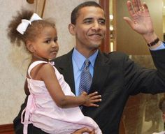 Barack Obama And Daughter Sasha.