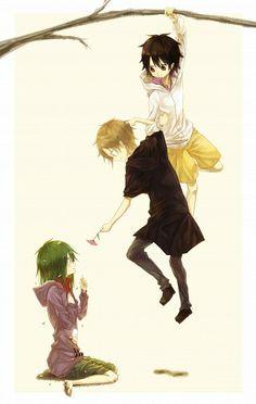 Kido, Kano, and Seto Kagerou Project Magna Anime, Anime Manga, Anime Art, Vocaloid, Anime Friendship, Kagerou Project, Kawaii, Actors, Spirit Animal