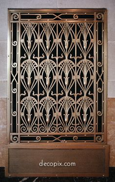 So much detail.  Why can't all ventilator grills be this pretty?