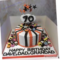 Liquorice Allsorts 70th Birthday Cake