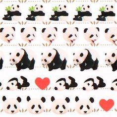 panda bear heart animal stickers from Japan