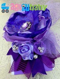 Purple & Lilac Nylon Baby Headband