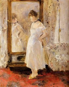 The Cheval Glass, Berthe Morisot. French Impressionist Painter (1841-1895)