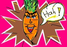 """Beware of the carrot!"" is a wondrous #mspaint artwork by the artist Anoia"