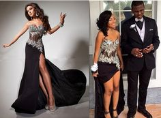 Black Prom Dresses,Split Prom Dress,Chiffon Prom Dress,Long Prom Dresses With Lace,2016 Formal Gown,Slit Evening Gowns For Teens