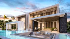 This luxury modern villa, comprised by 9 bedrooms and 11 bathrooms is located on a plot of in a very exclusive area in Dubai.