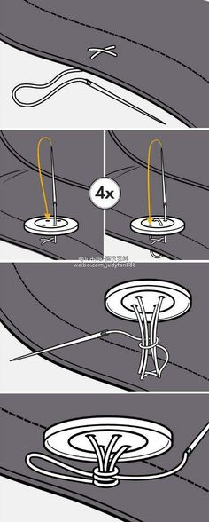 :) It's never too late to learn the right way to do things: button sewing technique #funny #silly #humor - Check out loads of funny viral images.