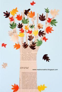 MadreCreativa: Autunno: albero da giornali e riviste