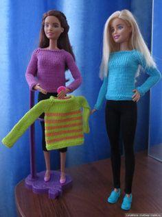 Добрый день, дорогие друзья. Хочу показать Вам одежду для куклы Барби. Большая часть уже разъехалась к свои новым хозяйкам и