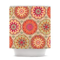 "Suzie Tremel ""Festival Folklore"" Vintage Floral Shower Curtain - Outlet Item"