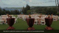 Stunning ocean view backdrop for a wedding. Ritz Carlton Kapalua Maui