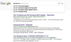 Did the holocaust happen? Google search for Carole Cadwalladr