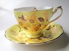 Hey, I found this really awesome Etsy listing at https://www.etsy.com/listing/235144267/gorgeous-yellow-queen-anne-tea-cup-and