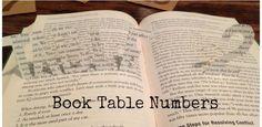 DIY Tutorial: Book Table Numbers