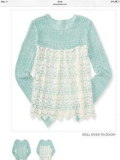 . Simple Crochet, Sweaters, Fashion, Moda, Fashion Styles, Sweater, Fashion Illustrations, Sweatshirts, Pullover Sweaters