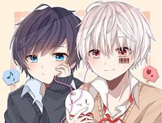 Soraru and Mafumafu Neko Boy, Chibi Boy, Kawaii Chibi, Cute Chibi, Kawaii Anime Girl, Anime Neko, Manga Anime, Anime Art, Anime Siblings