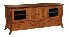 """Amish Vienna 72"""" TV Stand The Vienna is built by hand in Amish country. Solid wood and customized to match your home. Room to store and solid wood beauty to display your TV. #TVstands"""