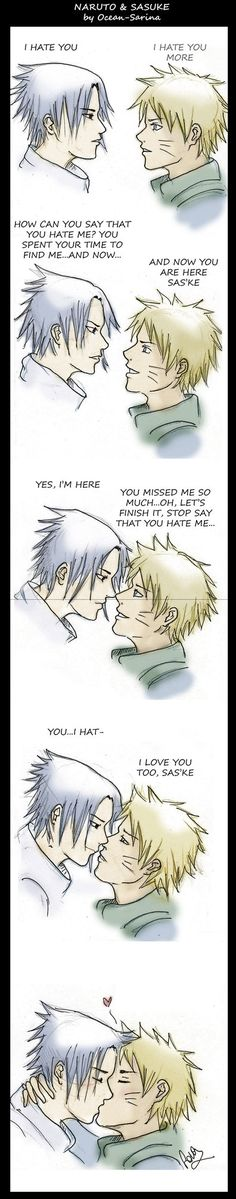 Naruto x Sasuke - Stripcomic - Kiss by Ocean-Sarina on ... - Picture Site