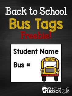 Help your little ones to remember their bus number with these customizable tags.You can print them on cardstock, punch a hole through the top corners and hang them on yarn to make a necklace, or tape, glue or pin them anywhere you like!This is an editable PowerPoint file, so you can change the font and type in your students' names and bus numbers on these tags before printing.