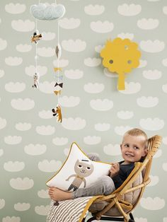 CARTA DA PARATI A MOTIVI PER BAMBINI CLOUD COLLEZIONE CLOUD BY FERM LIVING | DESIGN INGELA P ARRHENIUS