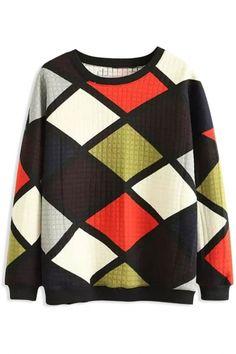The sweatshirt featuring colorful plaid pattern. Plaid Pattern, Winter Outfits, Long Sleeve Tops, Men Sweater, Hoodies, Stylish, Womens Fashion, Sweaters, Fashion Sweatshirts