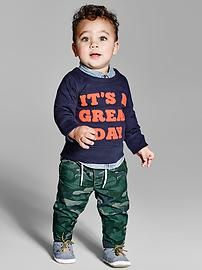 Shop Gap for a collection of cute baby boy clothes, from baby bodysuits to tops and more. Browse a variety of high-quality baby boy clothes in so many designs and fabrics. Cute Baby Boy Outfits, Girl Outfits, Baby Kids Clothes, Pull On Pants, Baby Gap, Baby Bodysuit, New Baby Products, Maternity, Casual