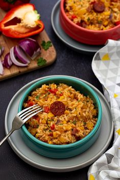 Foodie travel 717198309391321612 - Risotto mexicain Source by riricolibri My Recipes, Dinner Recipes, Eat This, Tasty Bites, Chorizo, Foodie Travel, Family Meals, Tapas, Side Dishes