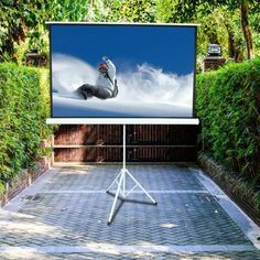 Winado Adjustable Home Conference White Portable Projection Screen Portable Projector Screen, Outdoor Projector, Home Theater Screens, Backyard Movie Nights, Screen Material, Projection Screen, Public Display, Teen Room Decor, Hd Movies