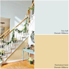 Coastal Colors - Sea Salt + Restrained Gold - Sherwin Williams