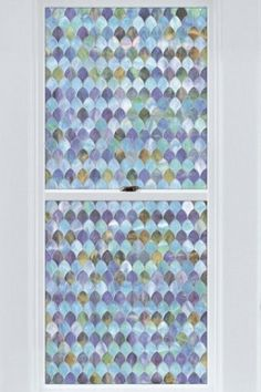 Peacock Stained Glass Privacy Window Film