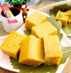 corn custard (kuih kastard jagung) 玉米卡仕达糕