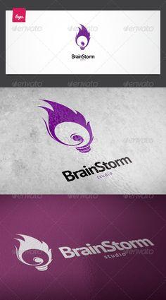 Brain Storm Logo - GraphicRiver Item for Sale