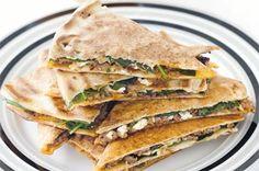Hummus Recipes: Turkish lamb, feta & spinach melts recipe