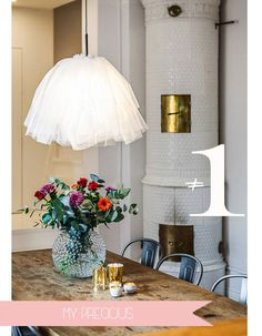 You could create a fun lighting element like this - reminiscent of a ballerina tutu easily with our paper lanterns + organza. (be sure to use a cool to touch LED bulb) See our Paper Lanterns here: http://www.lightsforalloccasions.com/c-289-paper-lanterns.aspx