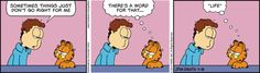 """Created by Jim Davis, Garfield is about the famous fat cat and his hilarious daily adventures with his """"pal"""" Odie and others. Garfield Cartoon, Garfield And Odie, Garfield Comics, Comics Love, Fun Comics, Zits Comic, This Life I Live, Hagar The Horrible, Calvin And Hobbes"""