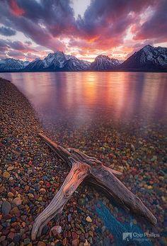 Clearing Storm Jackson Lake, Wyoming, USA.