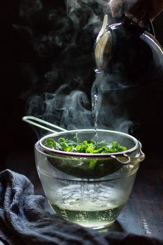 Un thé ou une infusion à la menthe! ... hmm...
