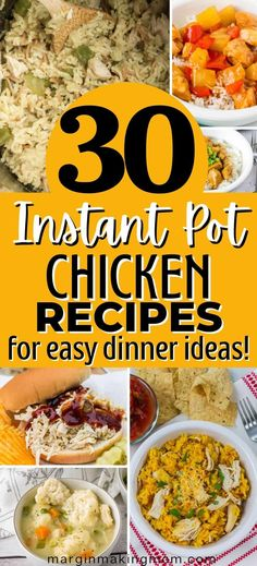 These Instant Pot chicken recipes are perfect for weeknight dinner ideas! Keep mealtime simple with these pressure cooker recipes including everyone's favorite poultry! Pressure Cooker Chicken, Instant Pot Pressure Cooker, Pressure Cooker Recipes, Easy Dinner Recipes, Dinner Ideas, Chicken Fettucine, Tortellini Alfredo, Chicken Enchilada Pasta, Chicken And Dumplings