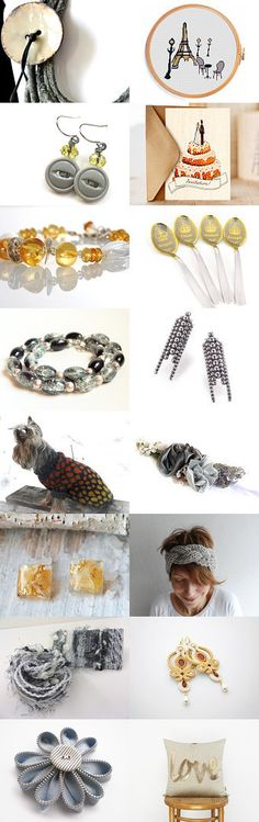 Partly Cloudy by Julia on Etsy-- I love this Etsy Treasury with som any creative gifts.  Handmade grey necklace, unique and trendy gifts.  Pinned with TreasuryPin.com