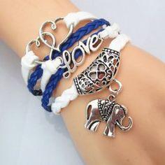 Chic Heart Love Elephant Bracelet For Women Teen Jewelry, Cheap Jewelry, Simple Jewelry, Cute Jewelry, Fashion Jewelry, Crystal Jewelry, Beaded Jewelry, Elephant Bracelet, Cute Bracelets