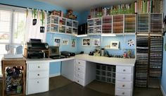 cool craft space.  very organized :)