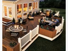 Backyard deck design idea