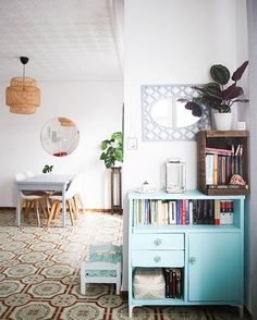 WEBSTA @ apartmenttherapy - House Tour: A Turquoise Lover's Cozy Spanish Home…